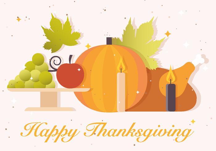 Gratis Thanksgiving Vector Bakgrund