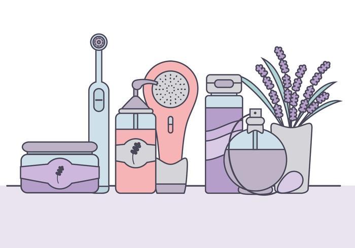 Vector Hautpflege-Elemente
