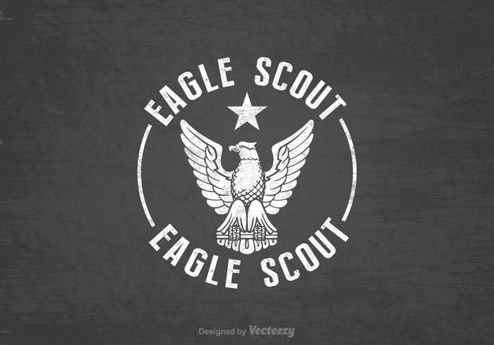 Free Eagle Scout Retro Vektor Hintergrund