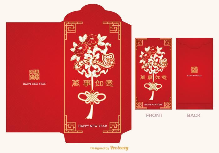 Free Chinese Red Packet Vektor Vorlage