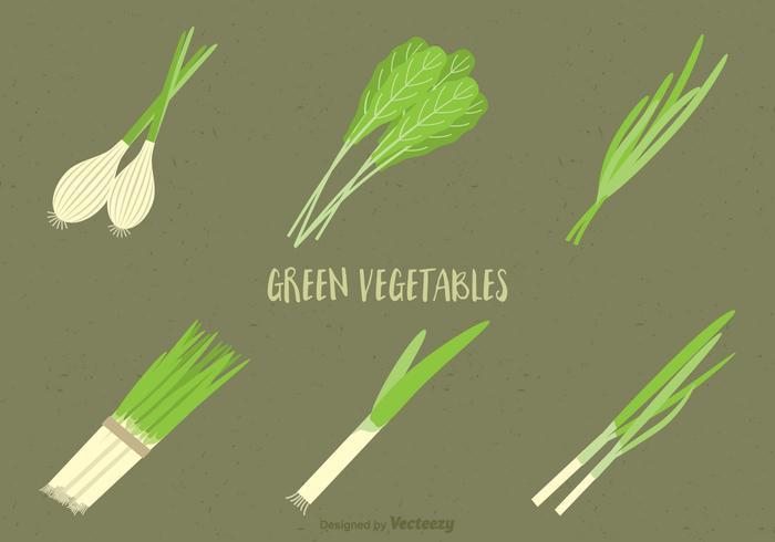 Freies grünes Gemüse Vektor Set