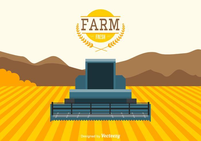 Freie Landwirtschaft Vektor Landschaft