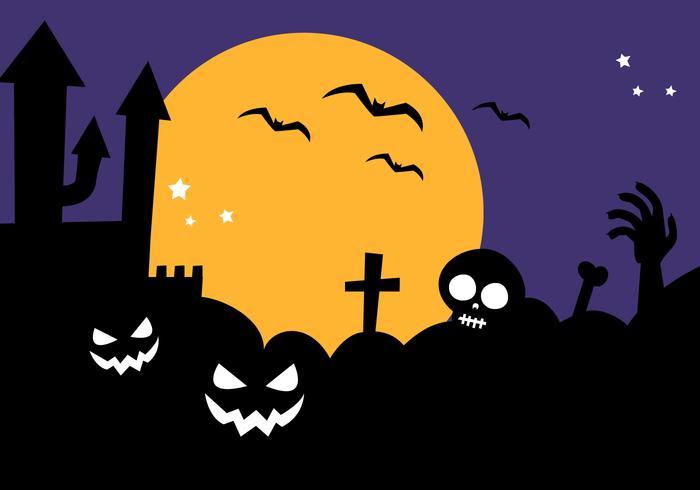 Freier Halloween Hintergrund Vektor