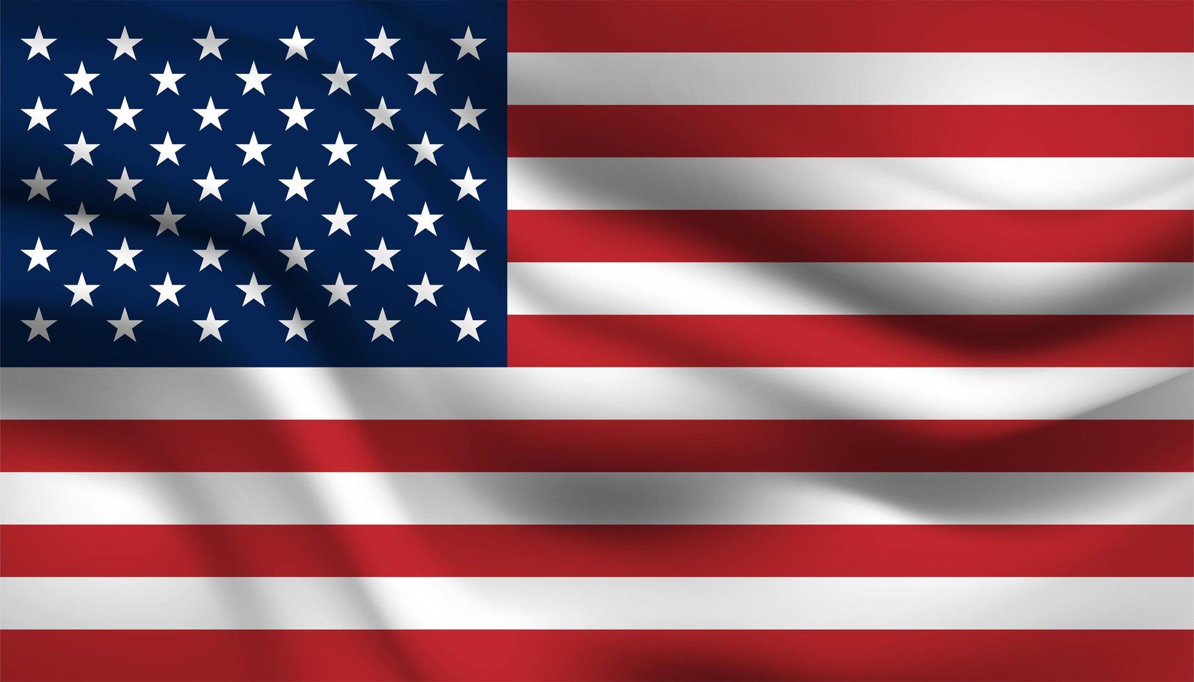 Flagge der Vereinigten Staaten von Amerika vektor