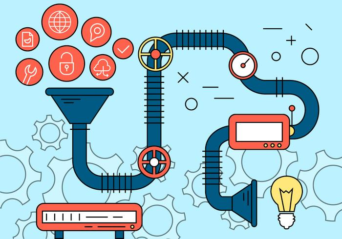 Entreprenörskapsprocessens ikoner vektor