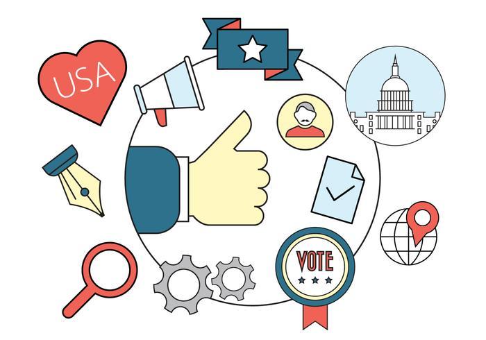 Politiska Vector Badges