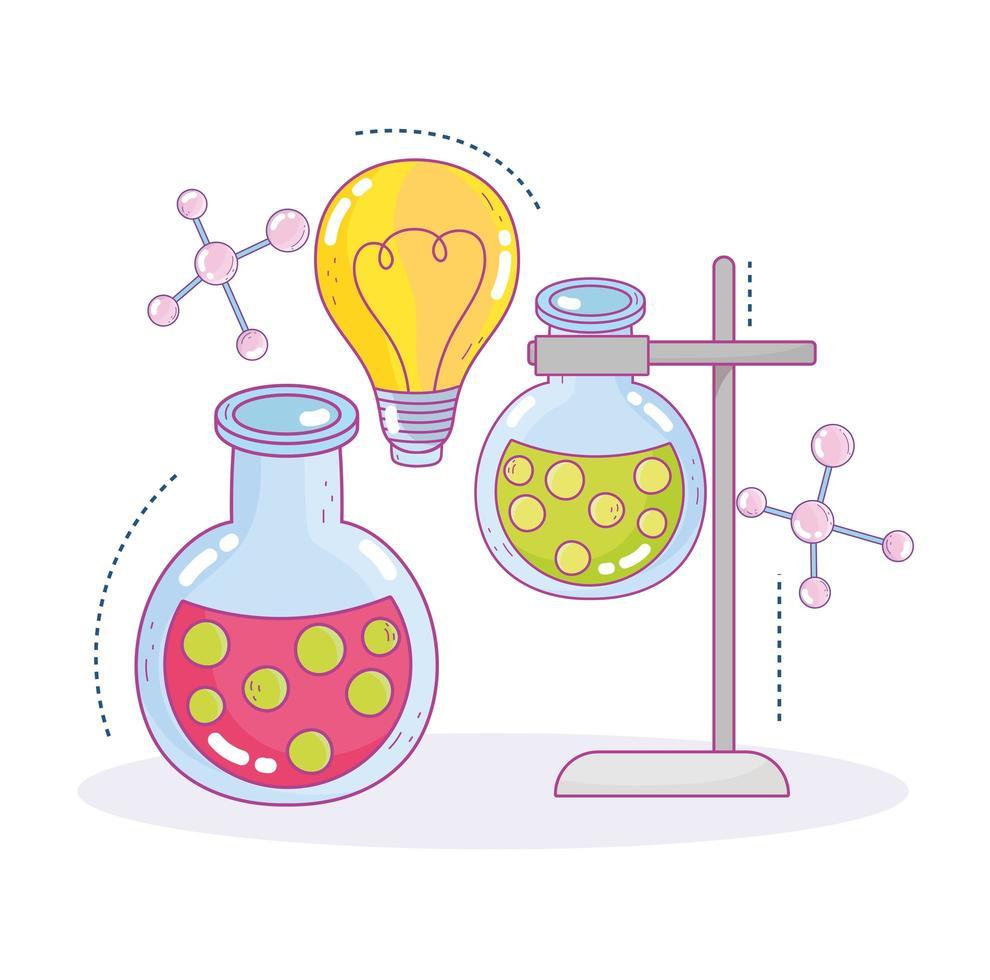Wissenschaftspraxis Reagenzgläser Probe Innovation Forschungslabor vektor