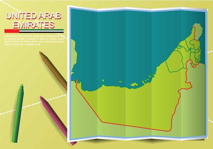 Kostenlose UAE Karte Illustration vektor
