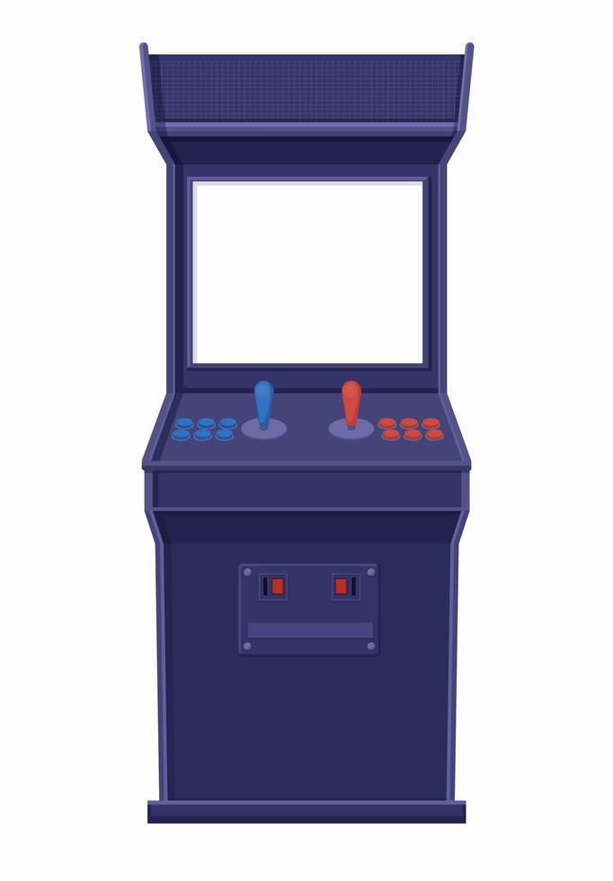 Retro Blue Arcade-Maschine mit leerem Bildschirm vektor