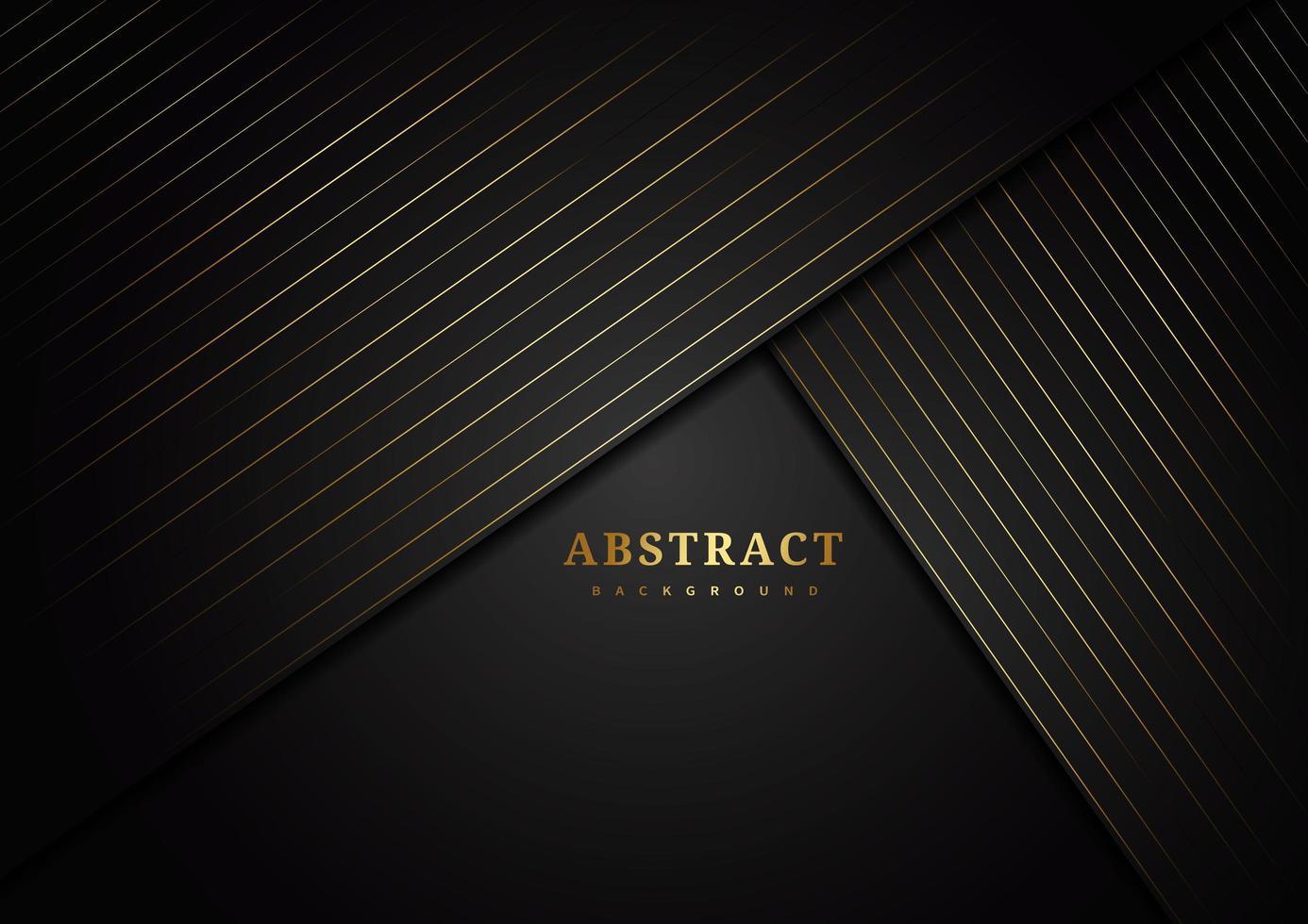 diagonala vinklade lager med randiga guldlinjer på svart vektor