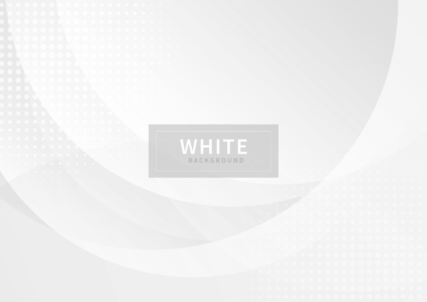 abstrakta vita och grå cirklar överlappande med halvton vektor