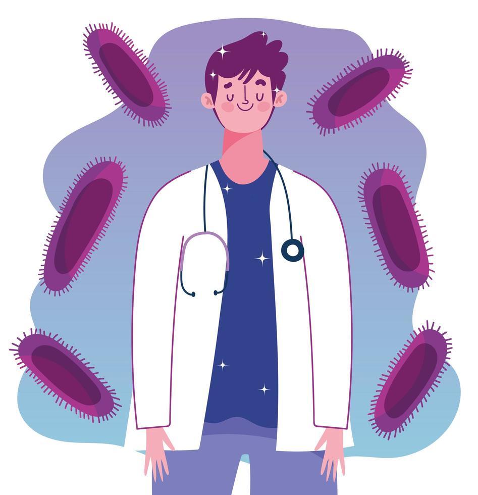 Impfung gegen medizinische Infektionen durch Ärzte vektor