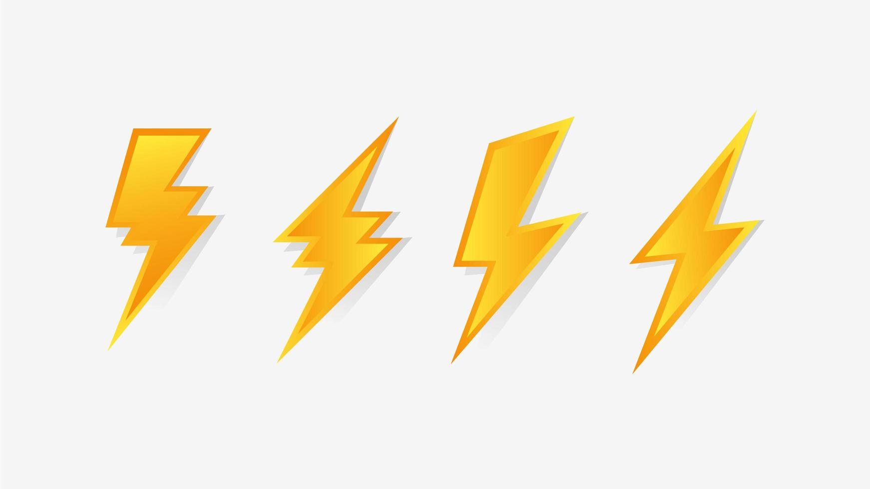 Satz von Blitzsymbolen vektor
