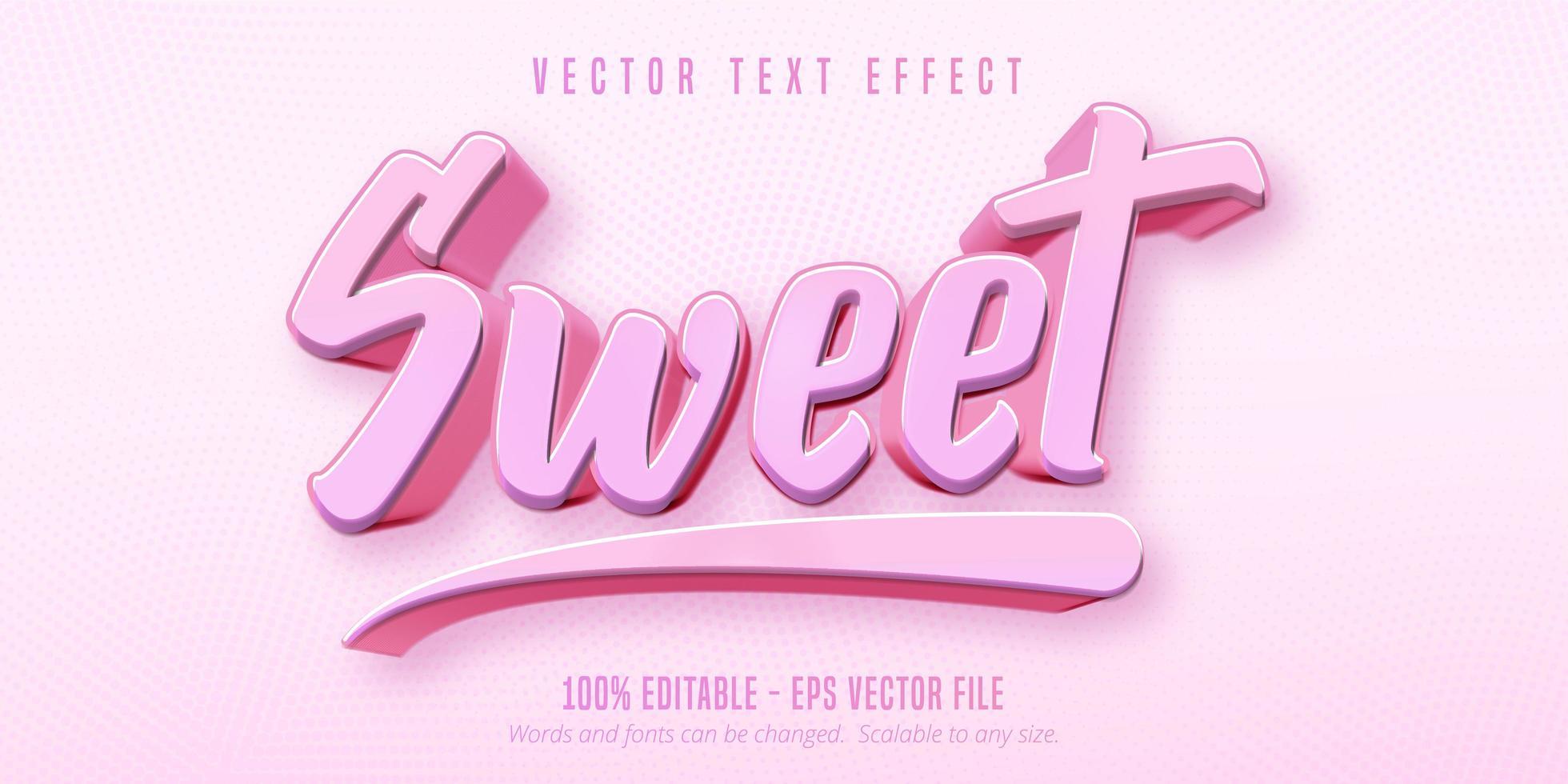 rosa süßer Text vektor