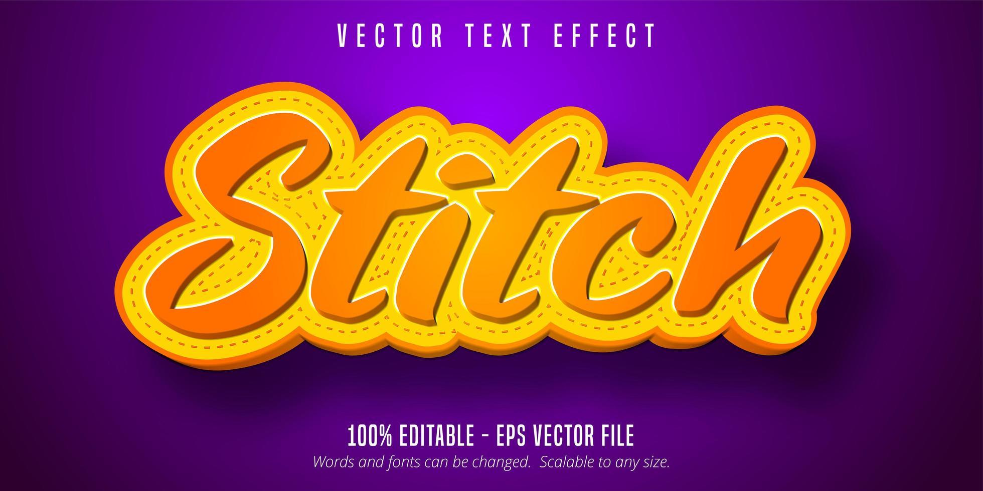 Stitch-Text-Effekt vektor