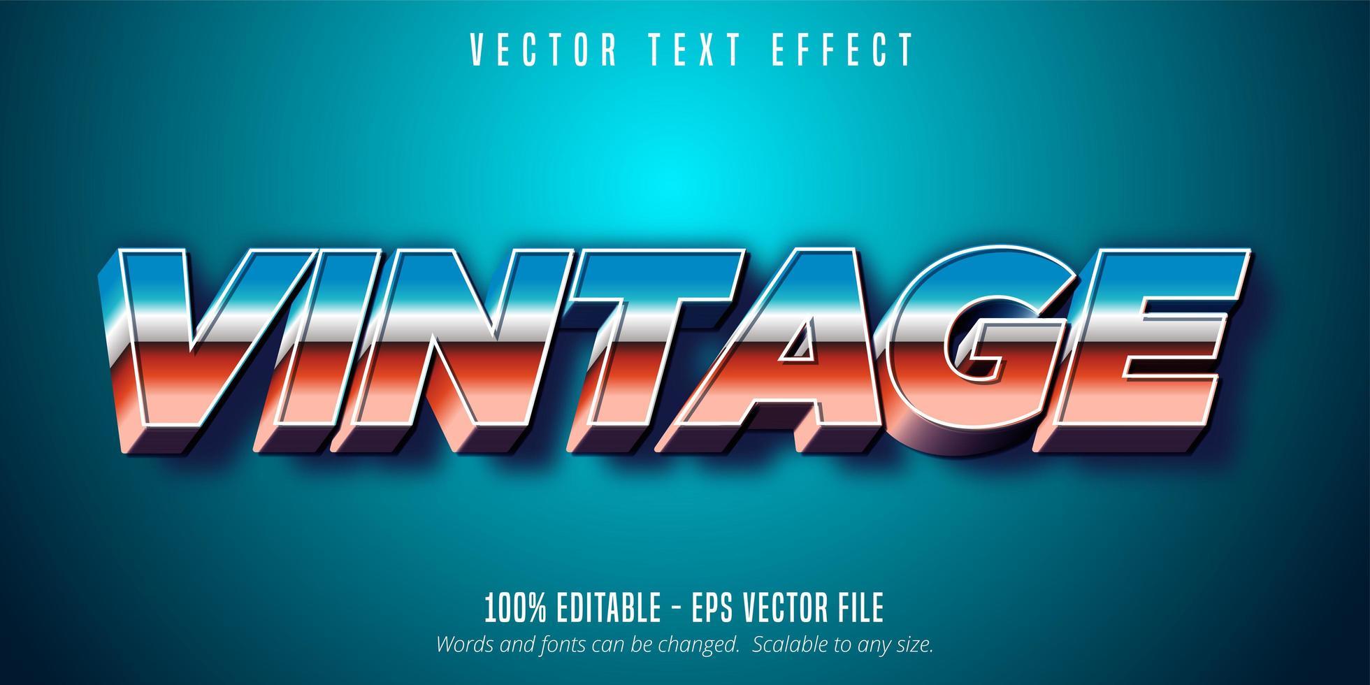 vintage 80-tals stiltext vektor