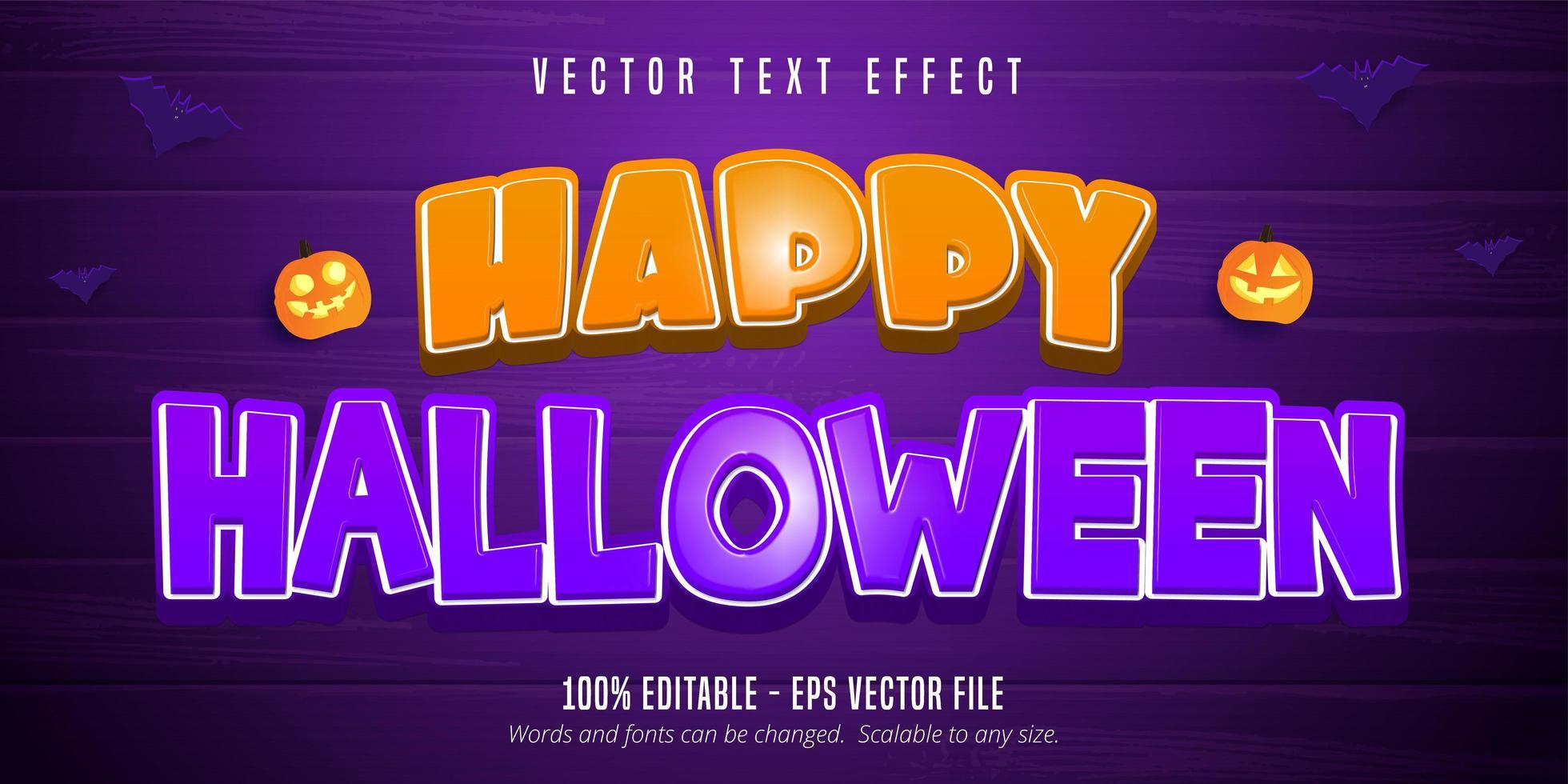 glad halloween text vektor