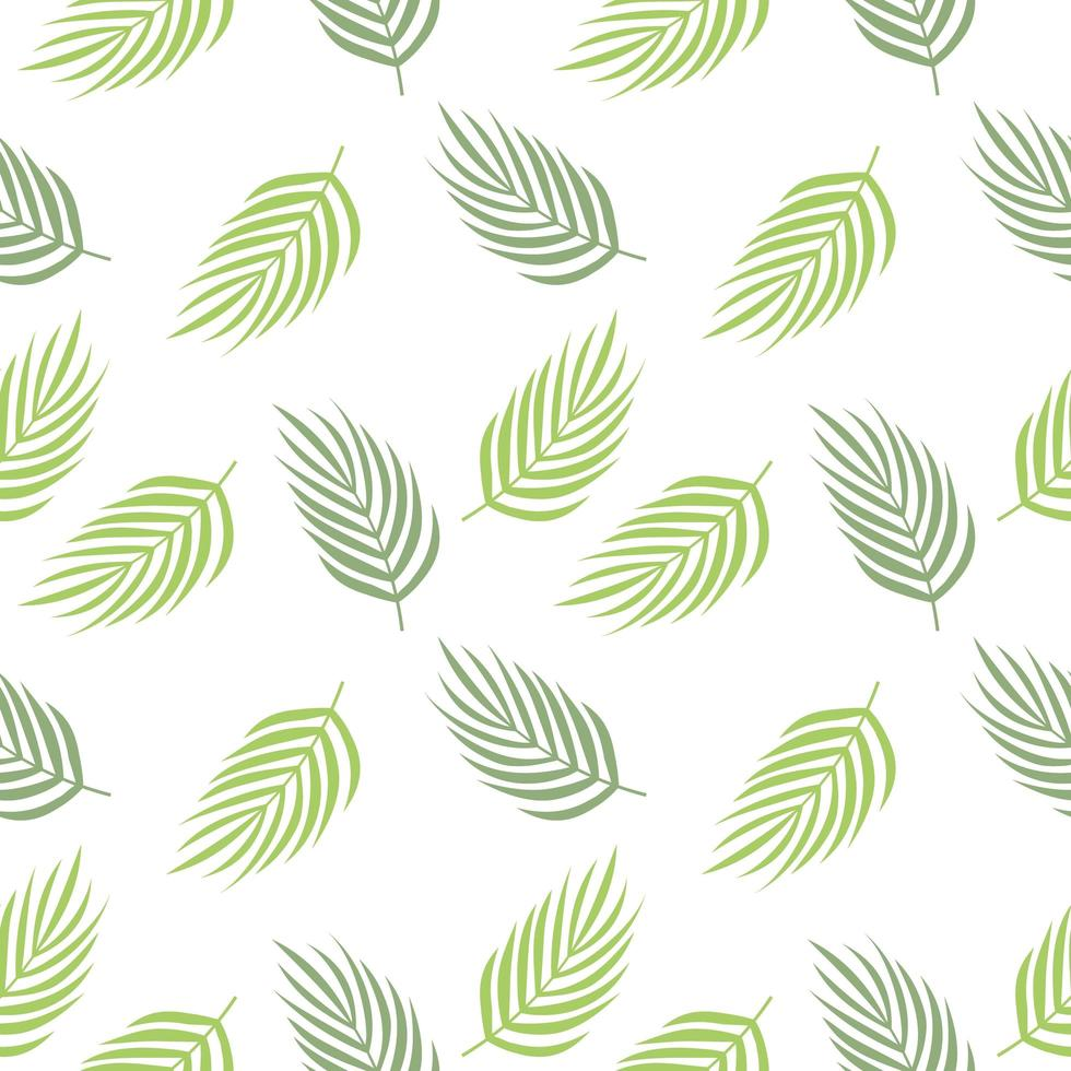 tropiska blad upprepade mönster vektor