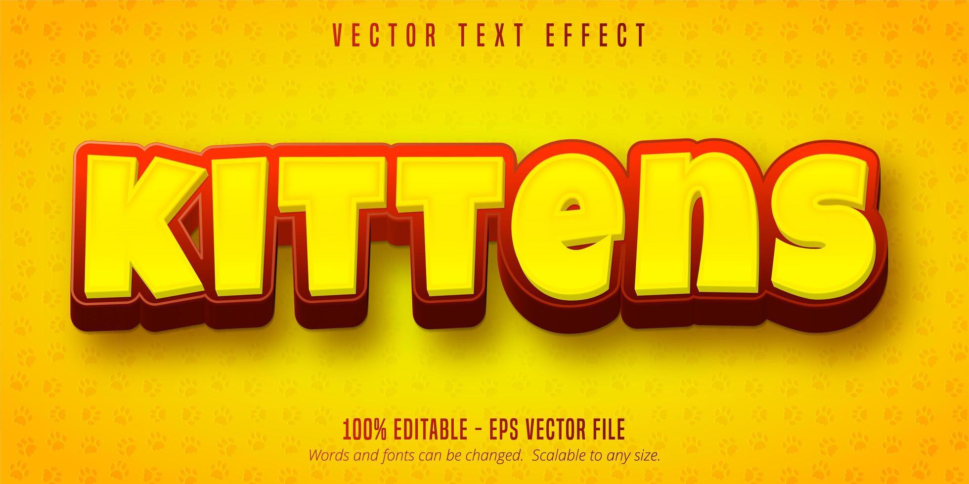 gul och röd kattunge text vektor