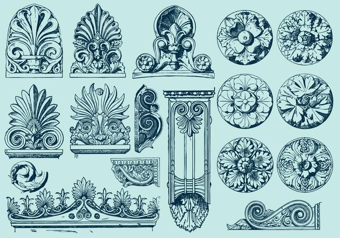 Acanthus Skulpturen vektor