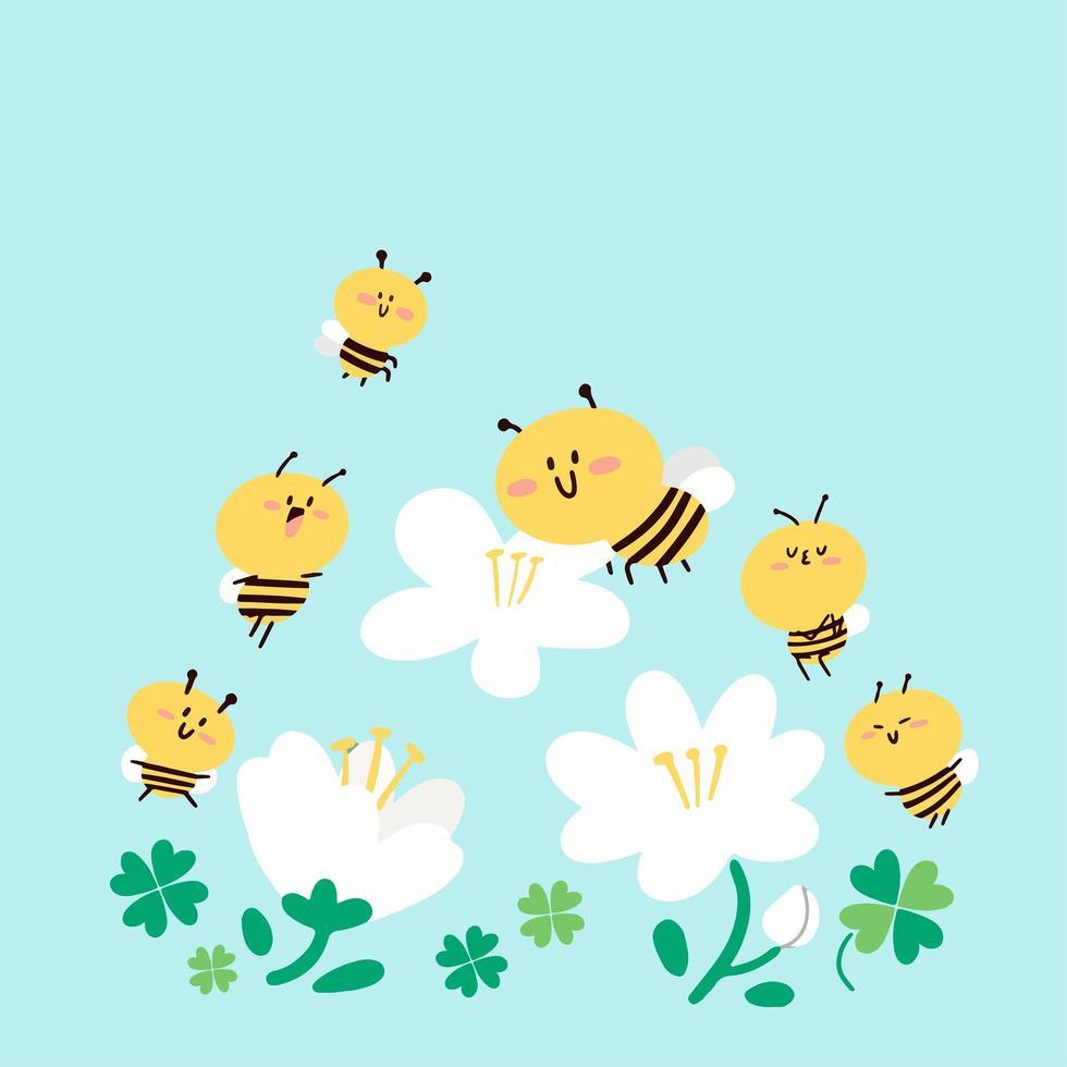Bienenbestäubungskonzept vektor