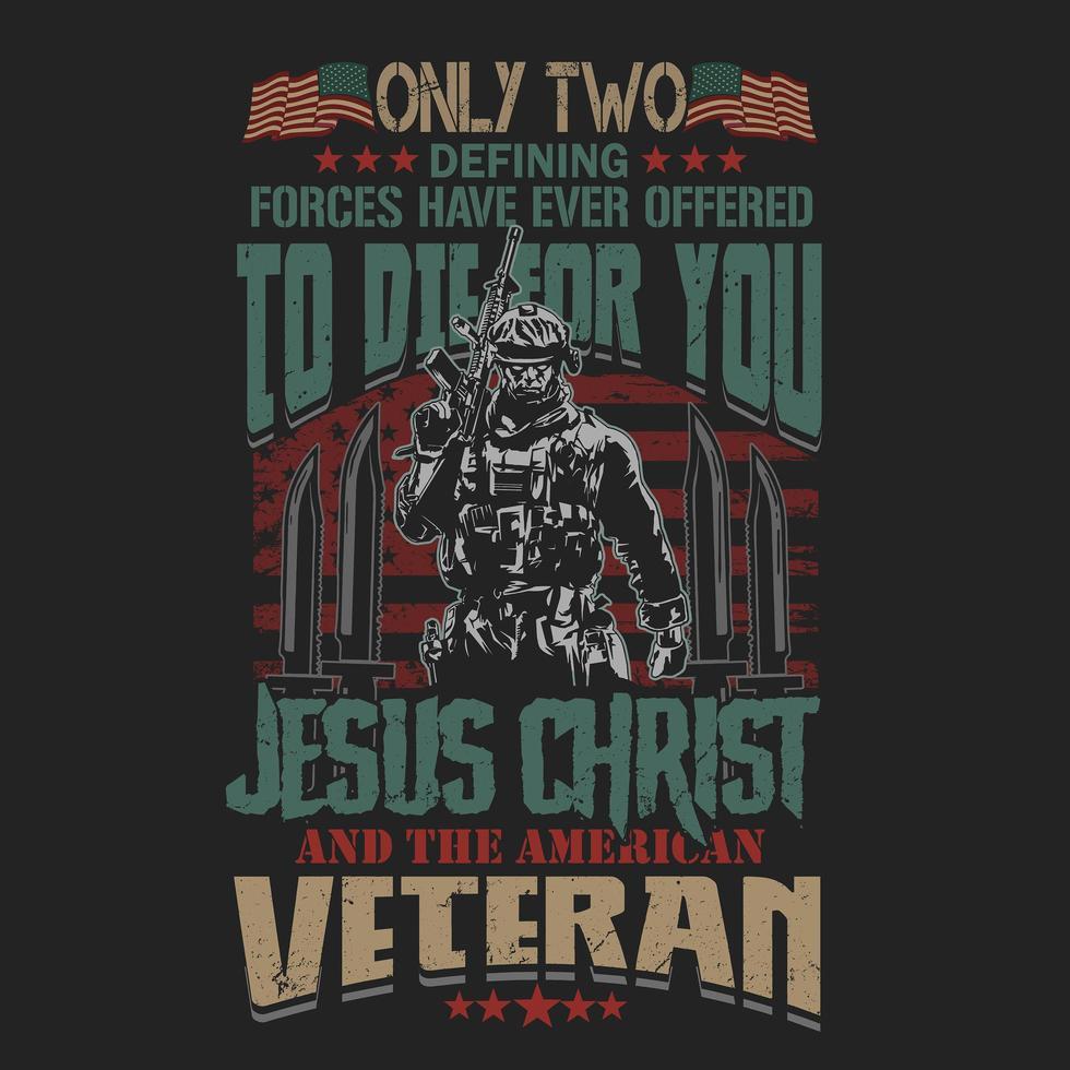 stolz darauf, ein Veteran Soldat Design zu sein vektor