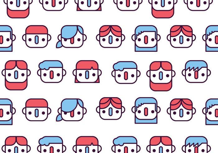 Kinder Gesichter Muster vektor