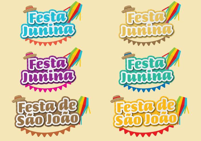 Festa Junina Titel vektor