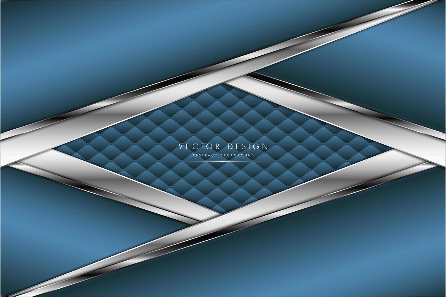 metallisch abgewinkelte blaue und silberne Paneele mit Polsterstruktur vektor