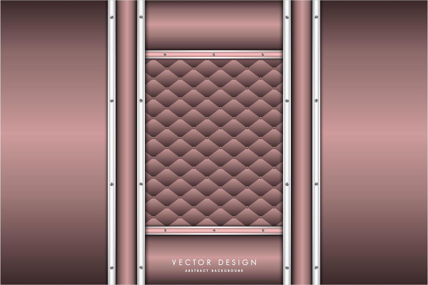 Metallic Pink und Silber Paneele und Polster Textur vektor