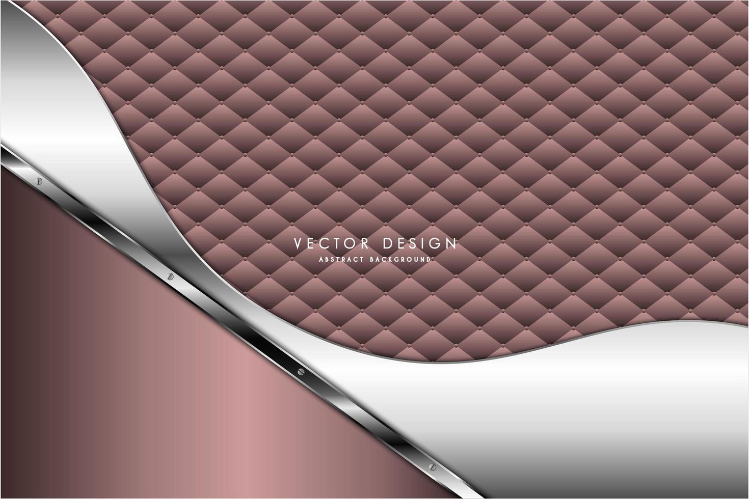 rosa und silbernes Metall mit modernem Polsterdesign vektor