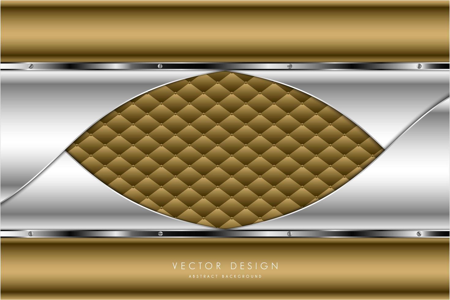 Gold- und Silbermetall mit modernem Polsterdesign vektor