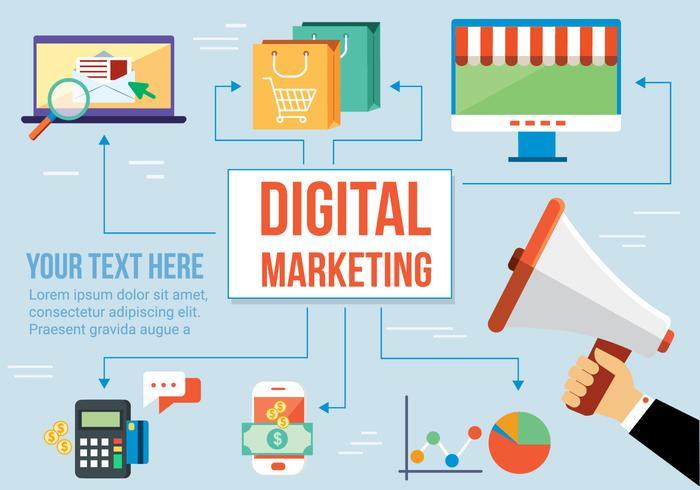 Gratis Digital Media Vector Design