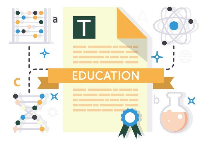 Gratis platt utbildnings vektor illustration