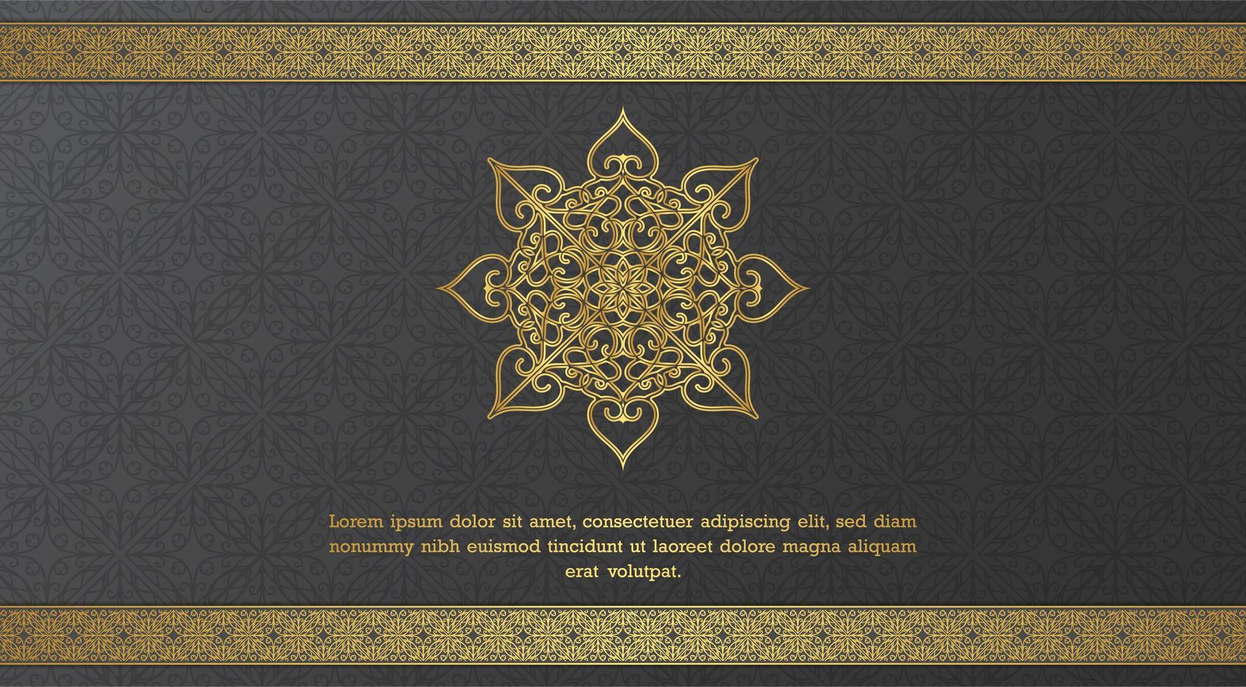 elegant prydnadsform och gräns gratulationskort mall vektor