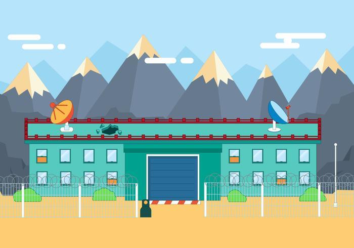 Free Flat Secure Gebäude Vektor-Illustration vektor