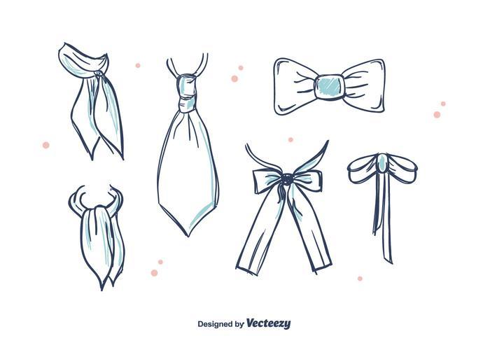 Krawatten und Cravat Vektor