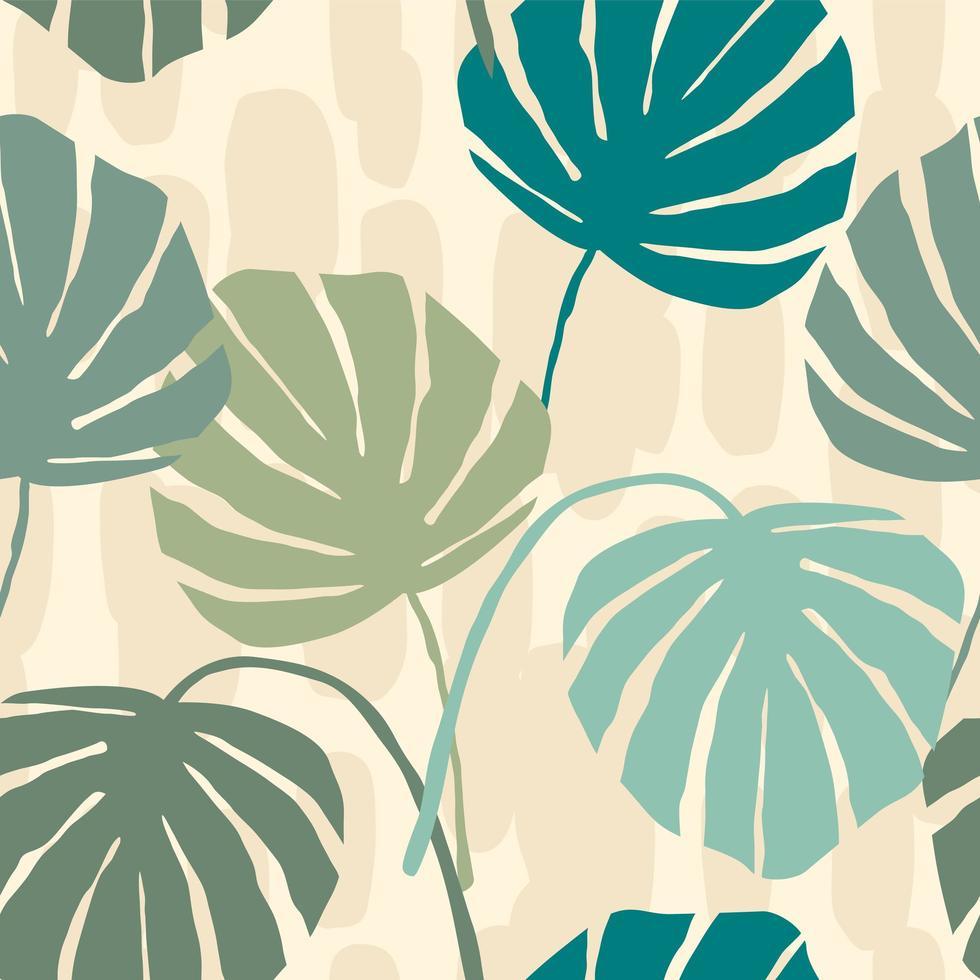 nahtloses Muster mit abstrakten Blättern vektor