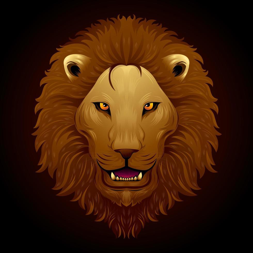 brusande lejonmålning vektor