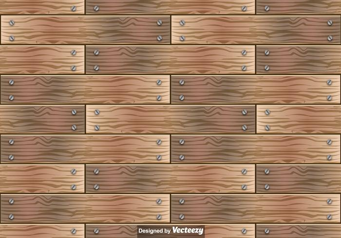 Hölzerne Planken Vektor Nahtlose Muster
