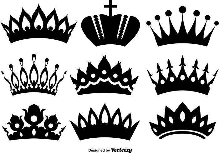 Vektor ikoner av kronor