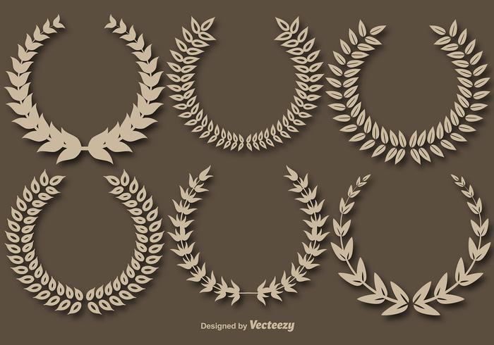 Krans Crowns Vector Set