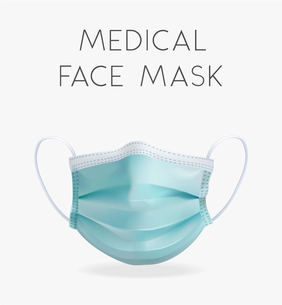 realistisk medicinsk ansiktsmask vektor