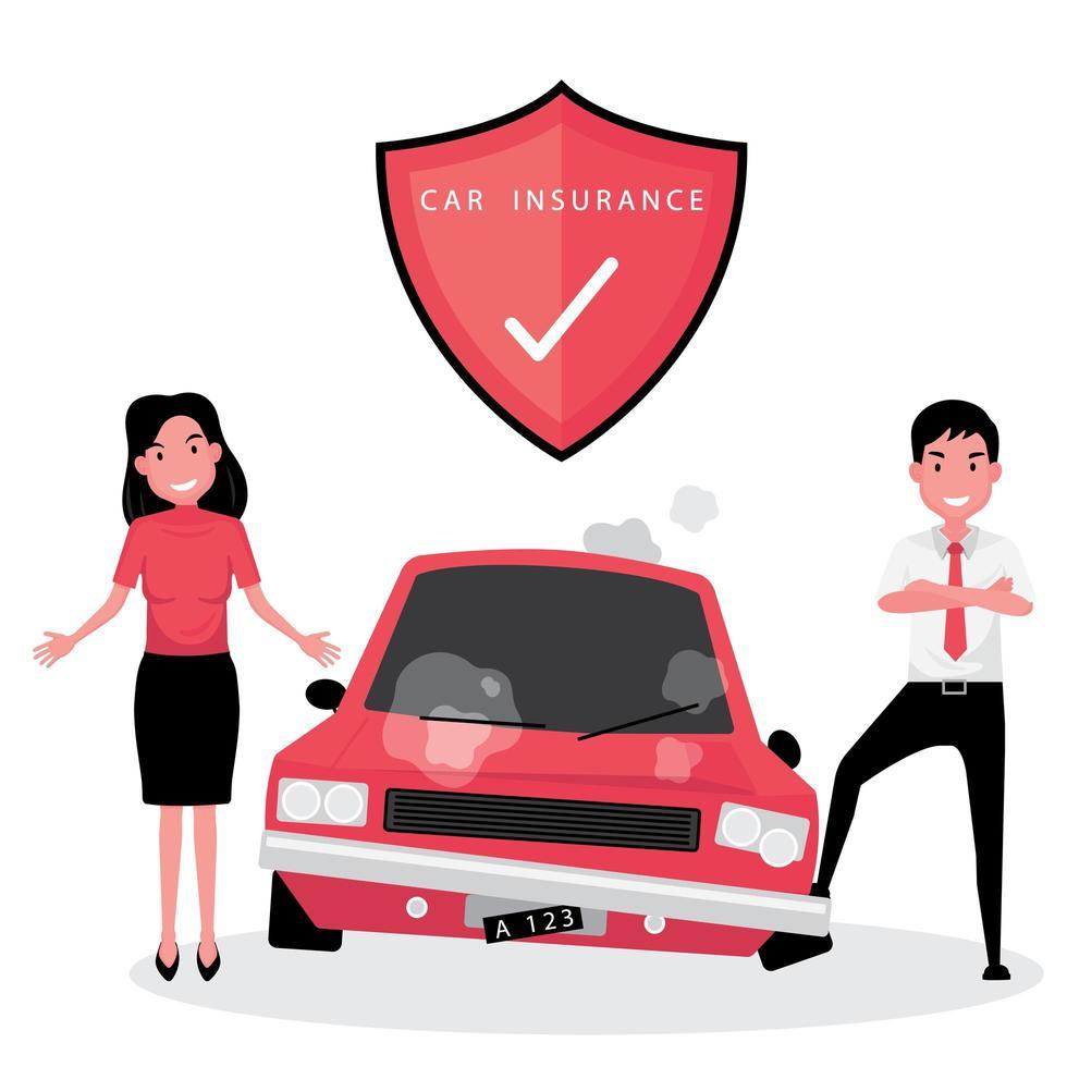Autoversicherungsgeschäft vektor