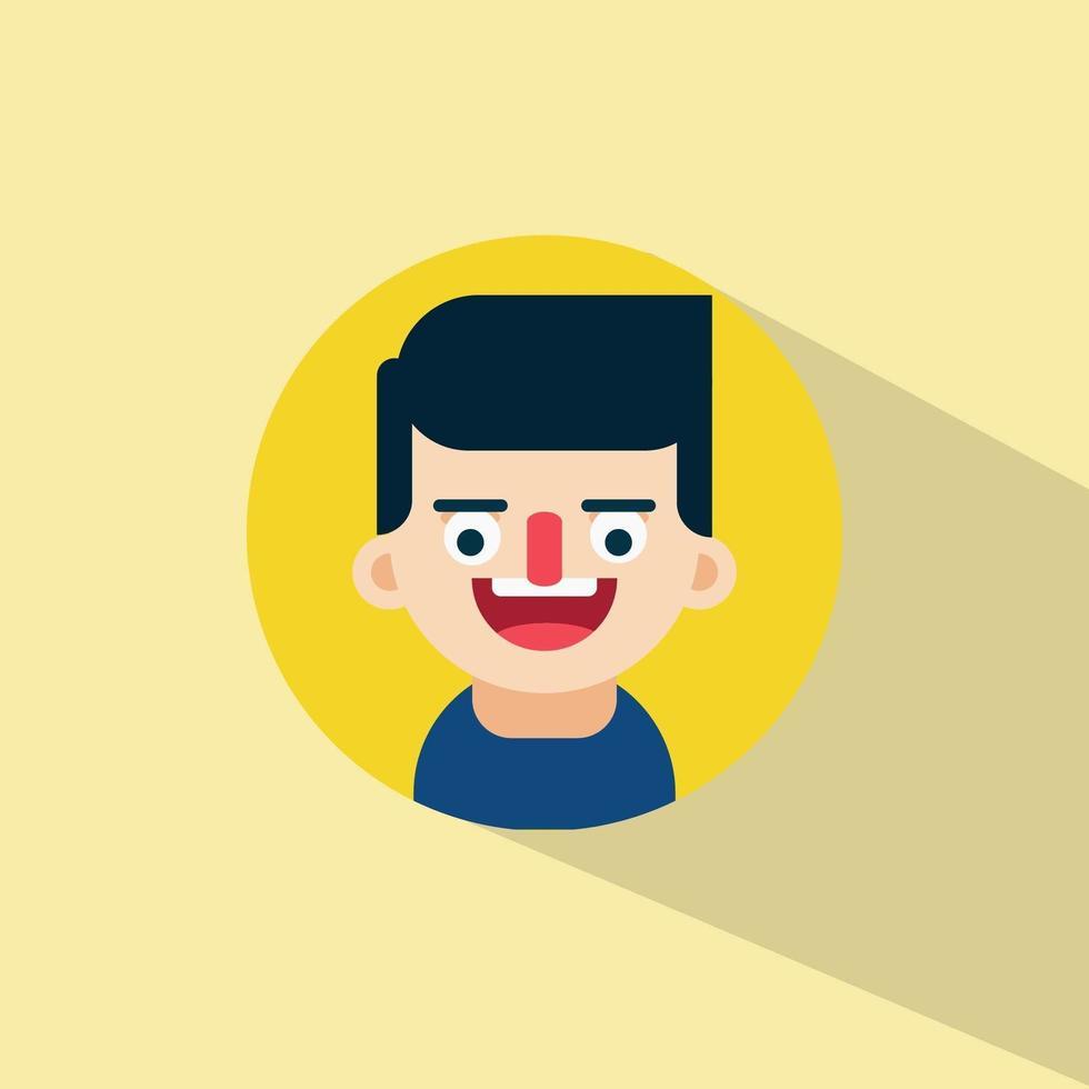 spike man skrattar ansiktsuttryck vektor