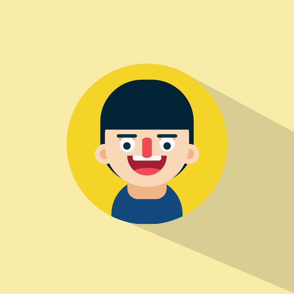 ung pojke skrattar ansikte uttryck vektor