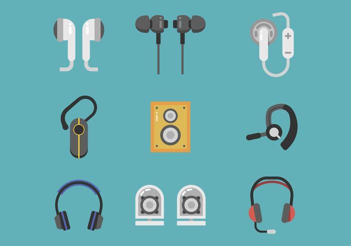 Freier Kopfhörer-Vektor vektor