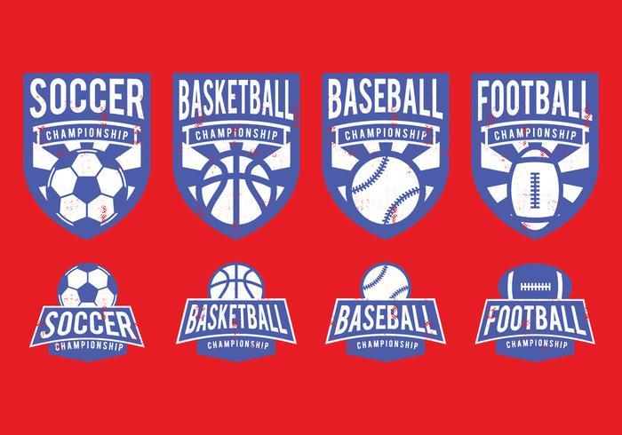 Amerikansk sport badge vektor