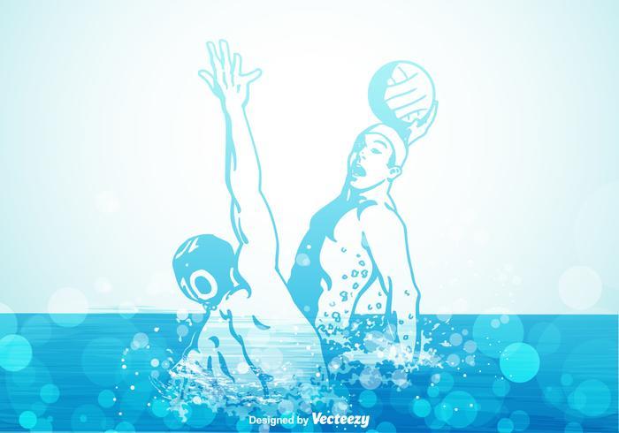 Gratis vattenpolo vektor illustration