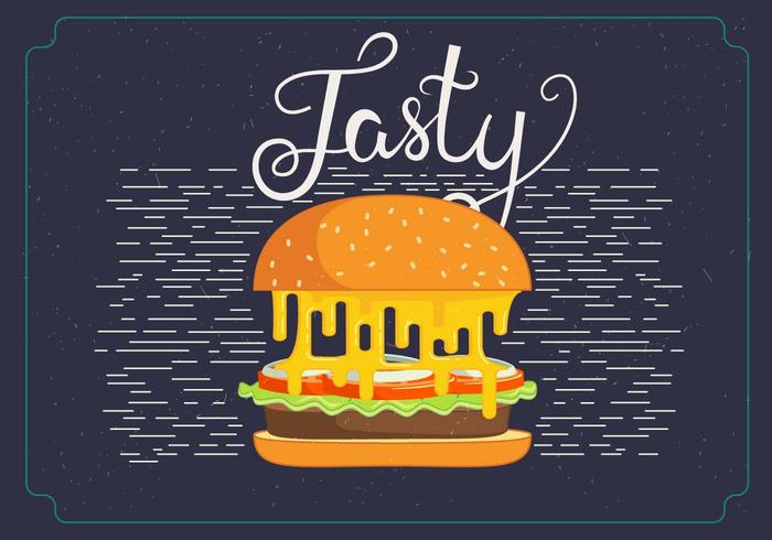 Free vector hamburger illustration